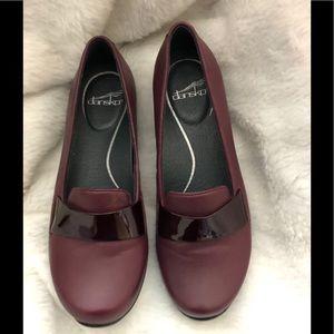 Dansko burgundy shoes